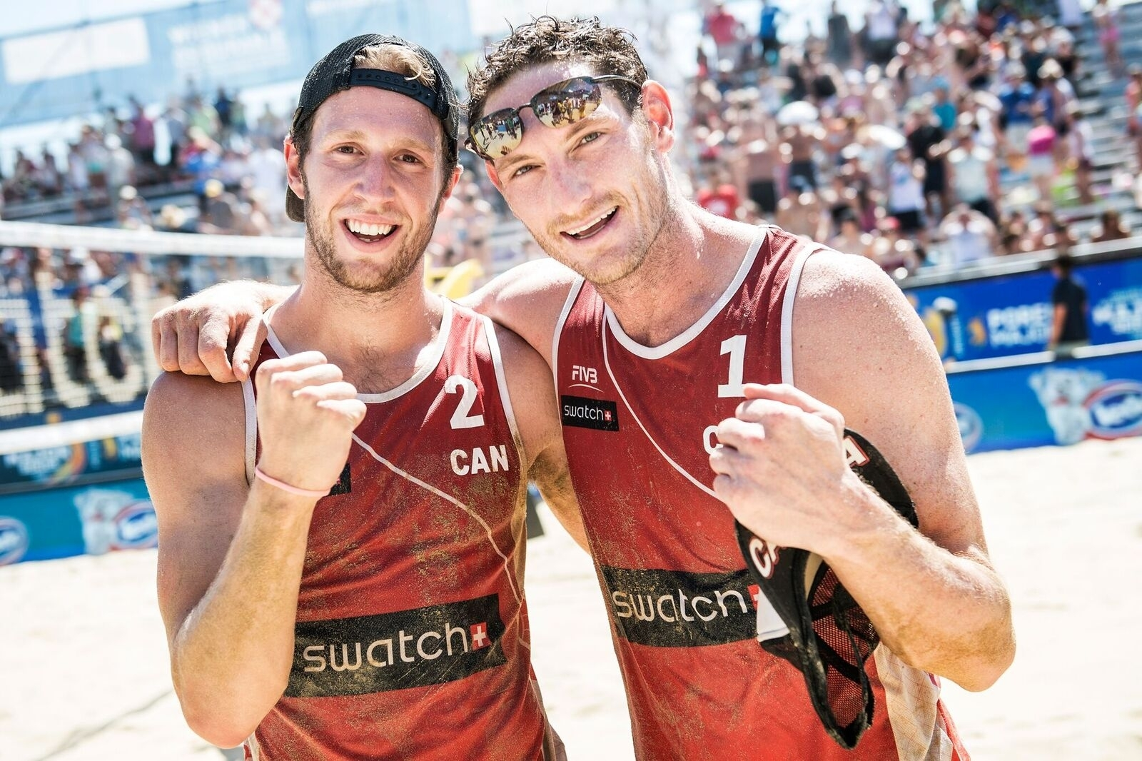 Four attempts, one Olympic spot for Sam Schachter (left) and Josh Binstock. Photocredit: Joerg Mitter.
