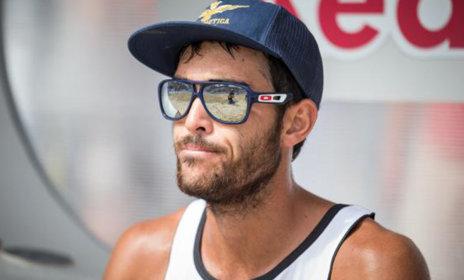 Thoughtful look of beach volleyball player Daniele Lupo Credit: ACTS/Moertl