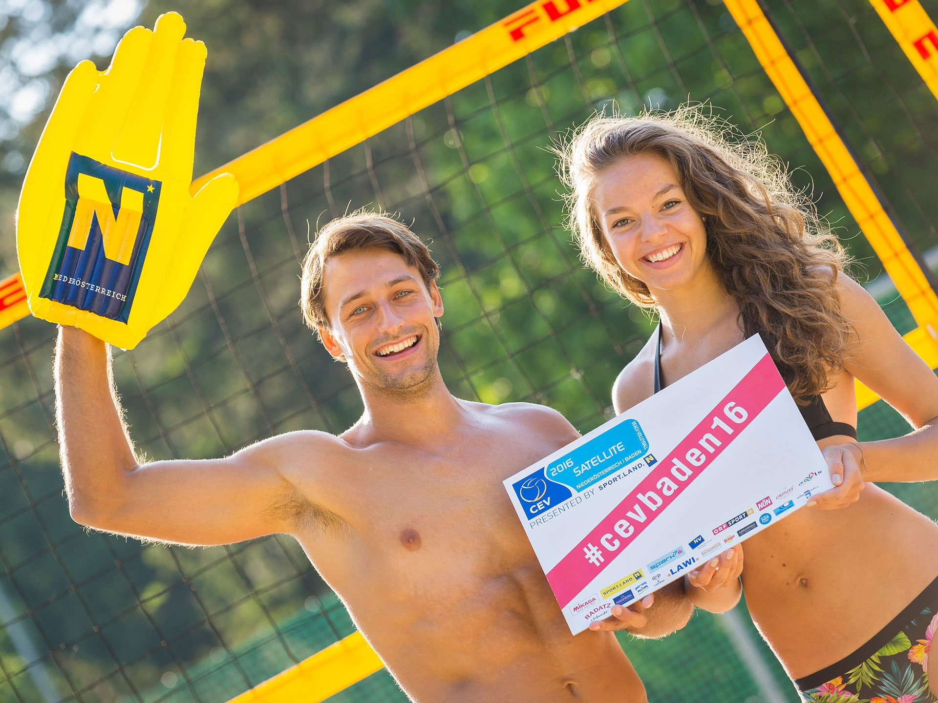 The CEV Satellite Baden 2016 presented by SPORT.LAND.NÖ takes place from 8-12 June Photo credit: CEV Satellite Baden.