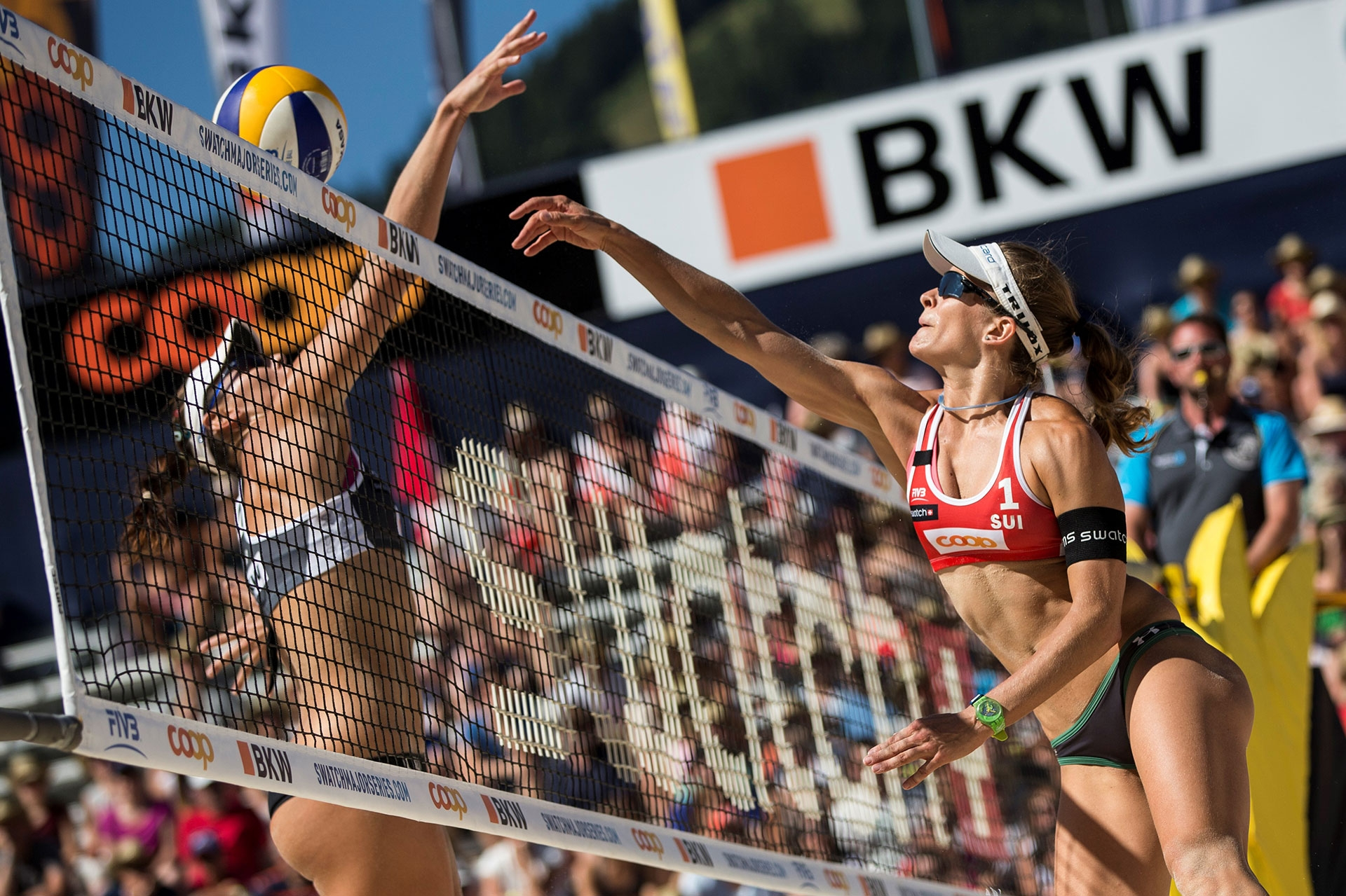 Nadine Zumkehr (right) will play her second Olympics this summer. Credit: Samo Vidic