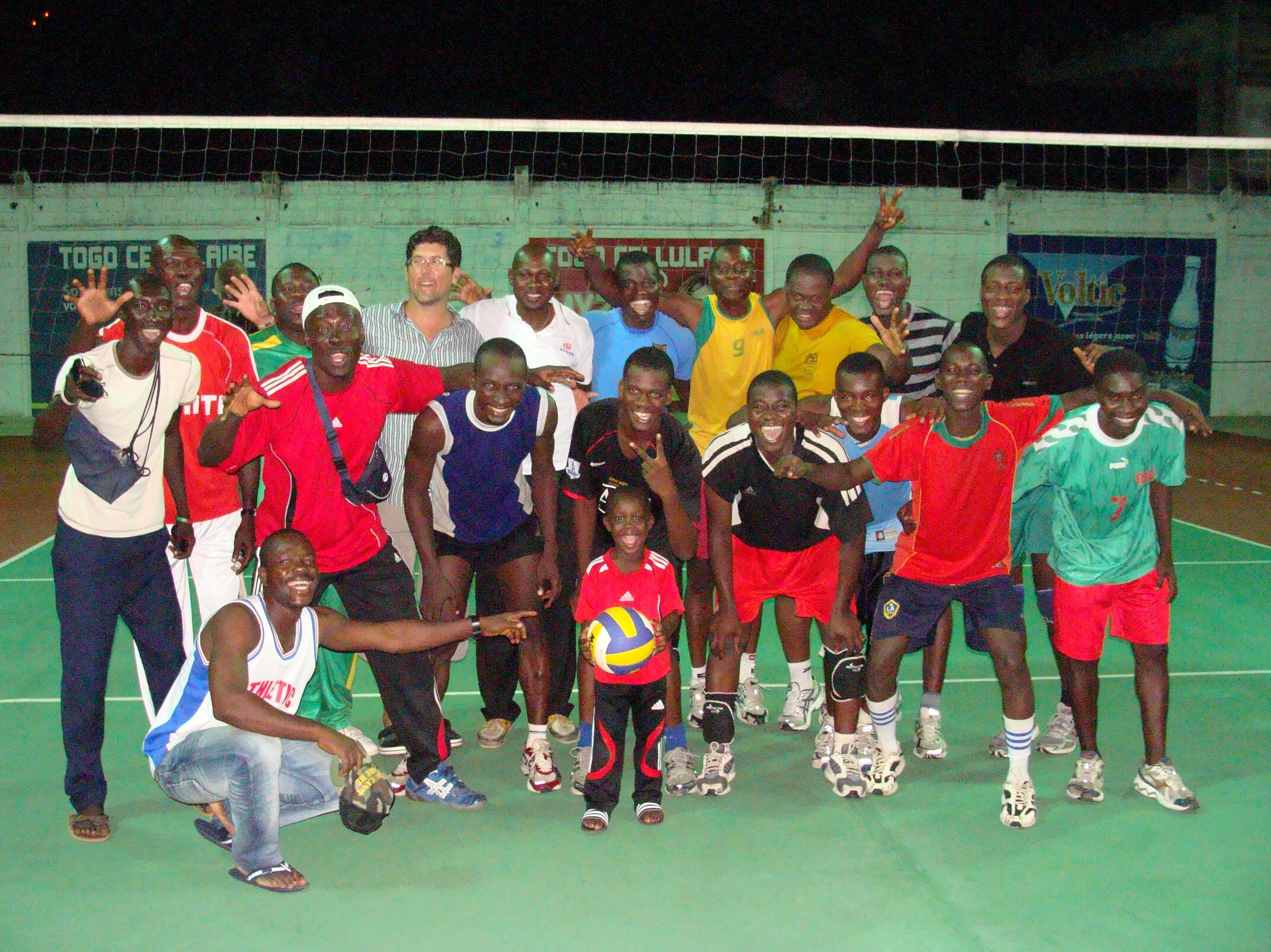 Drago with his group at the Volleyball Cooperation Program in Togo in 2011 Photocredit: Drago Peslac