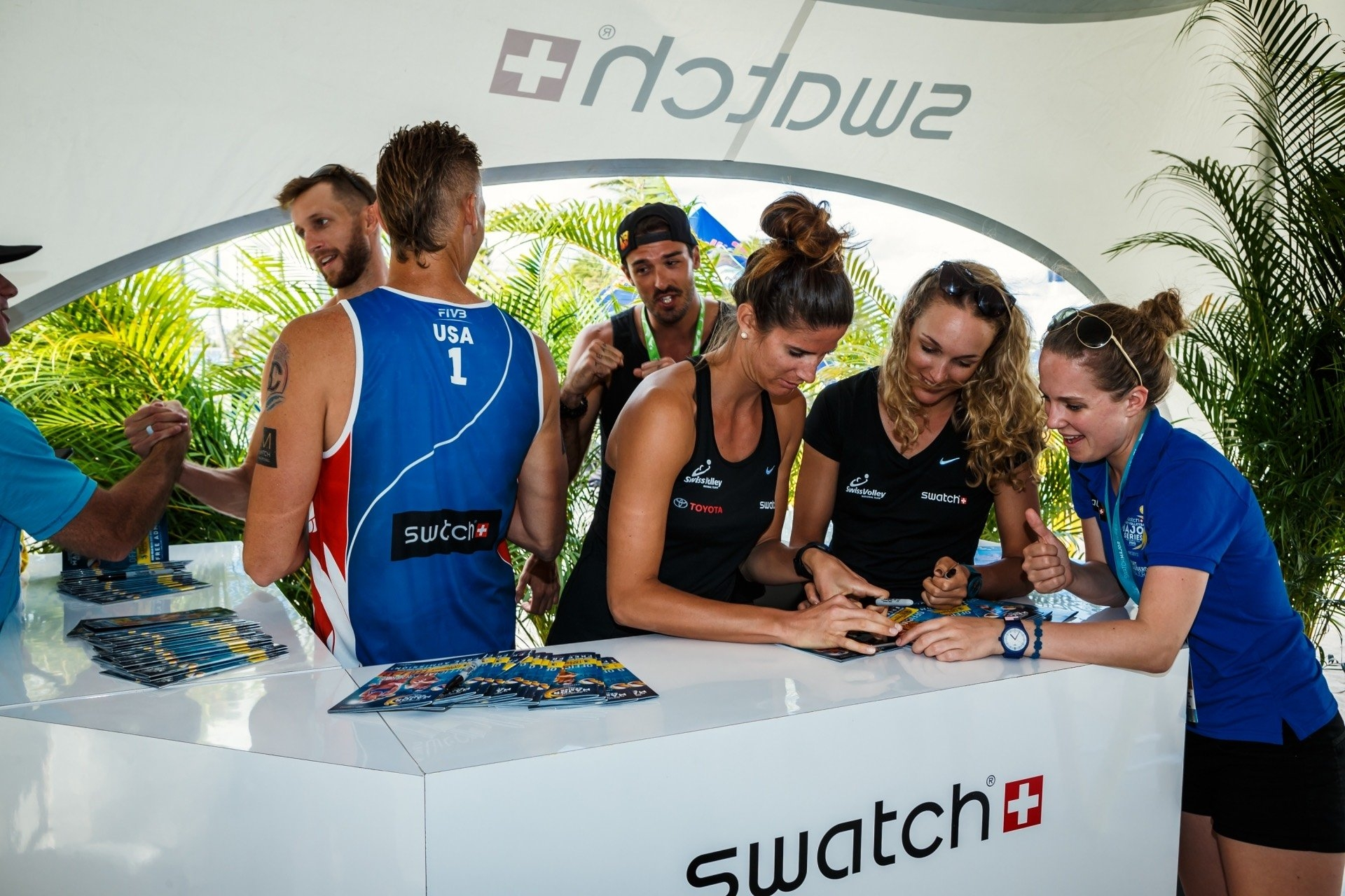 Signing sesh with Olympians anyone? Photocredit: Dave McMahan