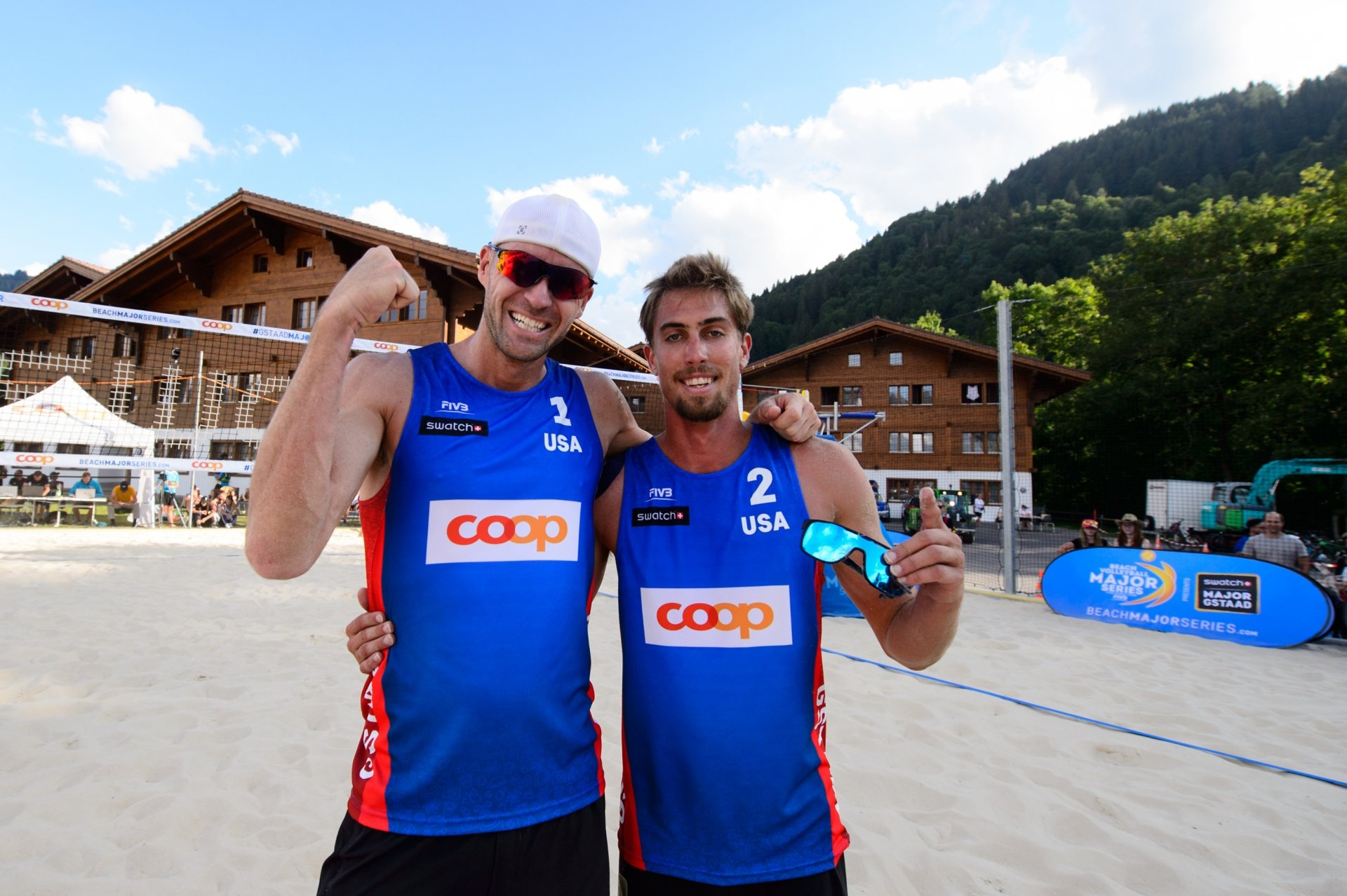 Gibb and Crabb had their first semifinal appearance together in Gstaad