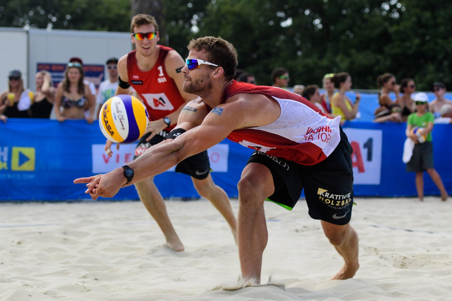 Swiss Marco Krattiger and Nico Beeler will be the next opponents of the Grimalts (Photocredit: FIVB)
